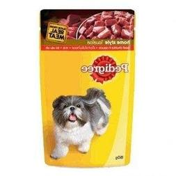 3x Pedigree Beef Chucks in Sauce Dog Food Pouch Bags Made Fo