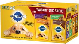 Wet Dog Food Variety Packs Pedigree Choice Cuts 24 - 3.5 Oz.