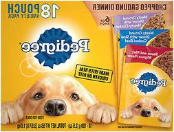 Pedigree Chopped Ground Dinner Adult Wet Dog Food Pouches 3.