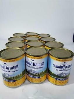 Natural Balance Pet Food L.I.D. Canned Dog Food Duck and Pot