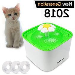 Zerhunt Pet Fountain Cat Water Fountain, 2L Automatic Pet Wa