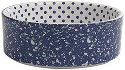 """PetRageous 2 Cup Confetti Dots Bowl, 5"""", Blue/Multicolor"""