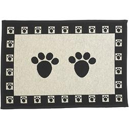 PetRageous Designed Tapestry Placemat for Pet Feeding Statio