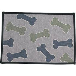 "Pet Rageous Kool Bones Tapestry Mat Feeder, 13 x 19""/Small"