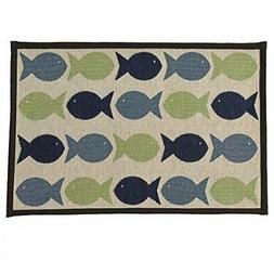 pet rageous kool fishies tapestry mat feeder
