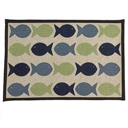 "Pet Rageous Kool Fishies Tapestry Mat Feeder, 13 x 19""/Small"