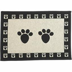 "Pet Rageous Paws Tapestry Mat Feeder, Large/28"" x 18"", Natur"
