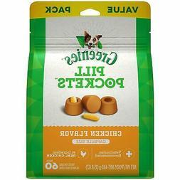GREENIES PILL POCKETS Capsule Size Dog Treats Chicken Flavor