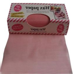 Pink Creative Beautiful Pinstripe Wax Paper Greaseproof Baki