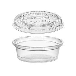0.5-Ounce Plastic Portion Cups with Lids, Small Condiment C