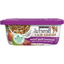 Purina Beneful Prepared Meals Simmered Beef Entree Adult Wet
