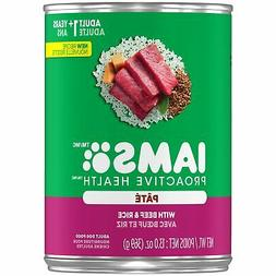 Iams Proactive Health Adult With Beef And Rice Pate Wet Dog
