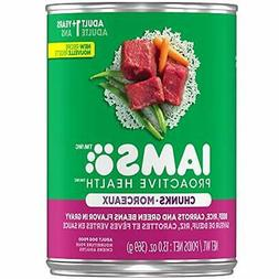 Iams Proactive Health Wet Dog Food Chunks In Gravy Beef Rice