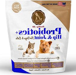 Best Probiotics + Hip and Joint for Dogs & Cats  - 2+ MONTHS
