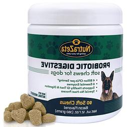 Premium Probiotics for Dogs - 90 Soft Chews - 4Bill CFUs/2 c