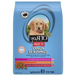 Ol' Roy Puppy Complete Dry Dog Food, 15 Lb - Pack of 2