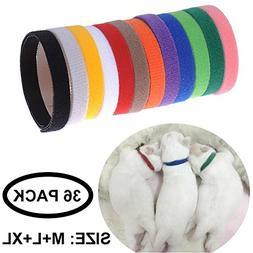 WORDERFUL Puppy ID Collars Adjustable Soft Fabric Velcro Pet