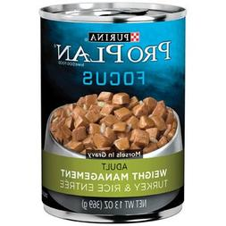Purina Pro Plan Focus Turkey Rice Entree Canned Weight Manag