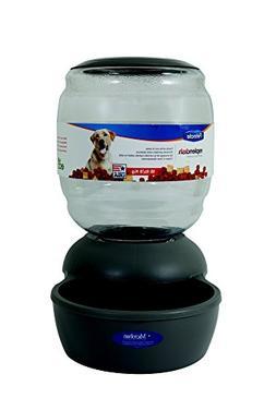 Petmate Replendish Gravity Feeder Grey Dog Bowl, 18 lb, Larg