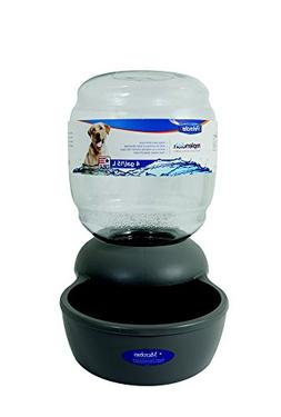 Petmate Replendish Gravity Waterer Grey Dog Bowl, 4 gallon,