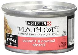 Pro Plan Savor Salmon & Cheese Adult Canned Cat Food in Sauc