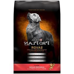 Pro Plan Savor Shredded Blend Beef & Rice Adult Dog Food, 35