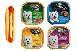 Cesar Savory Delights Dog Food 4 Flavor 8 Can with Toy Bundl