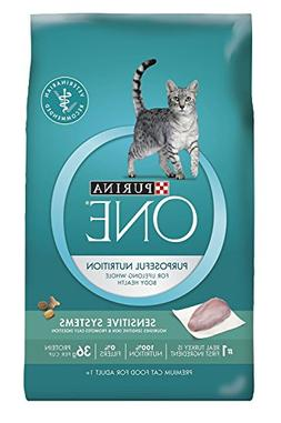 Purina ONE Sensitive Systems Adult Premium Cat Food 3.5 lb.