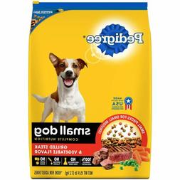 Pedigree Small Breed Adult Dry Dog Food Steak 15.9 lbs
