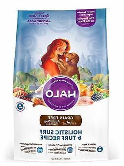 Halo Grain Free Natural Dry Dog Food, Surf & Turf Recipe, 14