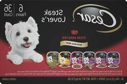 Cesar Steak Lover's Variety Pack Dog Food Trays, 3.5-oz, cas