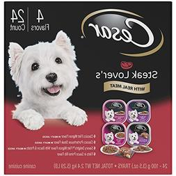 Cesar Steak Lover'S Adult Wet Dog Food Variety Pack Trays 3.