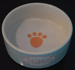 Teal Blue and Salmon HUNGRY Petrageous Designs Pottery Ceram