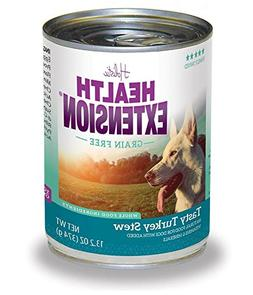 Health Extension Turkey Stew Grain Free Wet Dog Food , 12/13