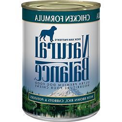 Natural Balance Ultra Premium Canned Dog Food, Chicken Formu