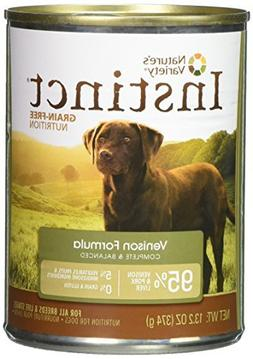 Nature's Variety Instinct, Grain-Free Canned Dog Food, Venis