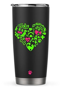Vet Tech Doggie Doctor Heart Decal Sticker for Laptop Dorm C