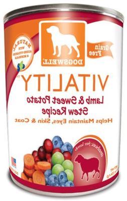 Dogswell Vitality Lamb & Sweet Potato Stew Recipe Dog Food