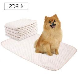 Yangbaga Washable Pee Pads for Dogs, 4 Packs Reusable Puppy