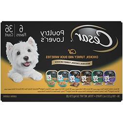 Cesar Adult Wet Dog Food Poultry Lover'S Variety Pack,  3.5