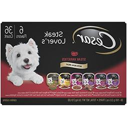 CESAR Adult Wet Dog Food Steak Lover's Variety Pack,  3.5 oz