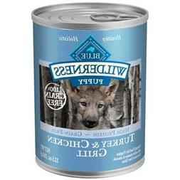 Blue Buffalo Wilderness Turkey & Chicken Canned Puppy Food 1